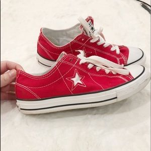 Converse One Star Red & White Sneakers Size 7.5